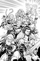 Pathfinder City of Secrets 6 Cover Inks by sean-izaakse