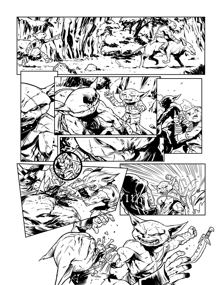 Pathfinder Goblins Pg 2 for GTM Mag by sean-izaakse