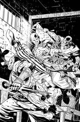 Pathfinder Origins 4 Cover Inks by sean-izaakse by sean-izaakse