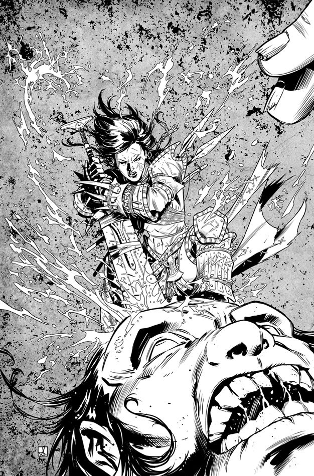 Pathfinder Origins 1 Cover Inks by sean-izaakse