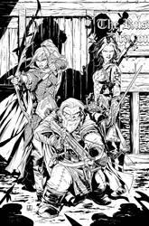 Pathfinder Origins 5 Cover Inks by sean-izaakse
