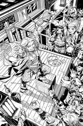Pathfinder Origins 6 Cover inks by sean-izaakse