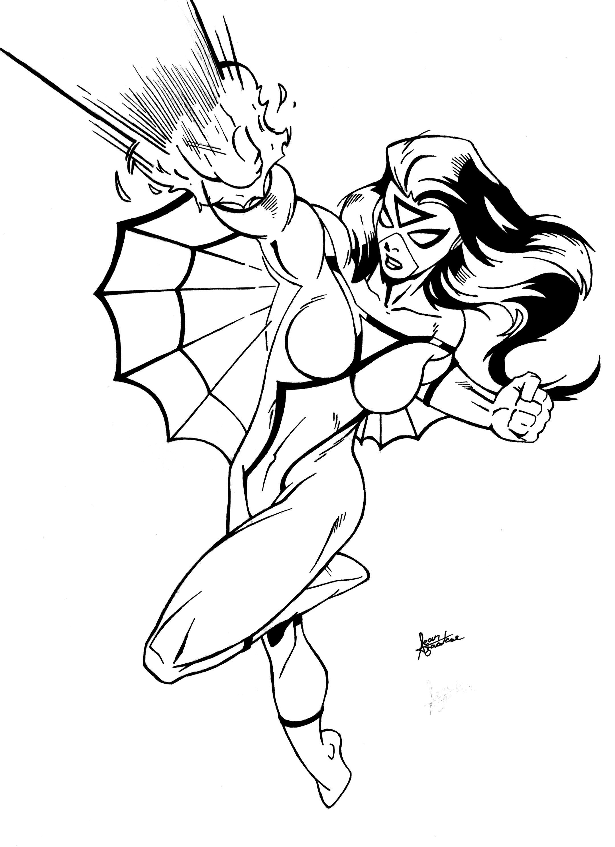 spider girl coloring pages - photo#18
