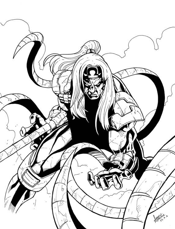redline coloring pages | Omega Red by sean-izaakse on DeviantArt