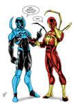 Blue Beetle vs Spiderman