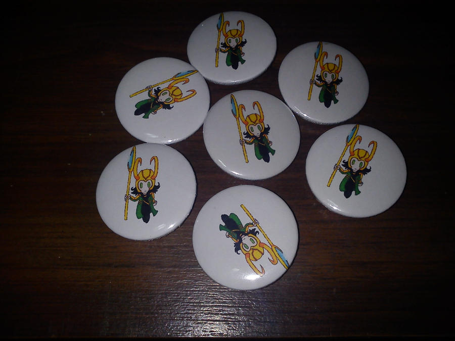 loki badges for sale, second design by Baka-customs