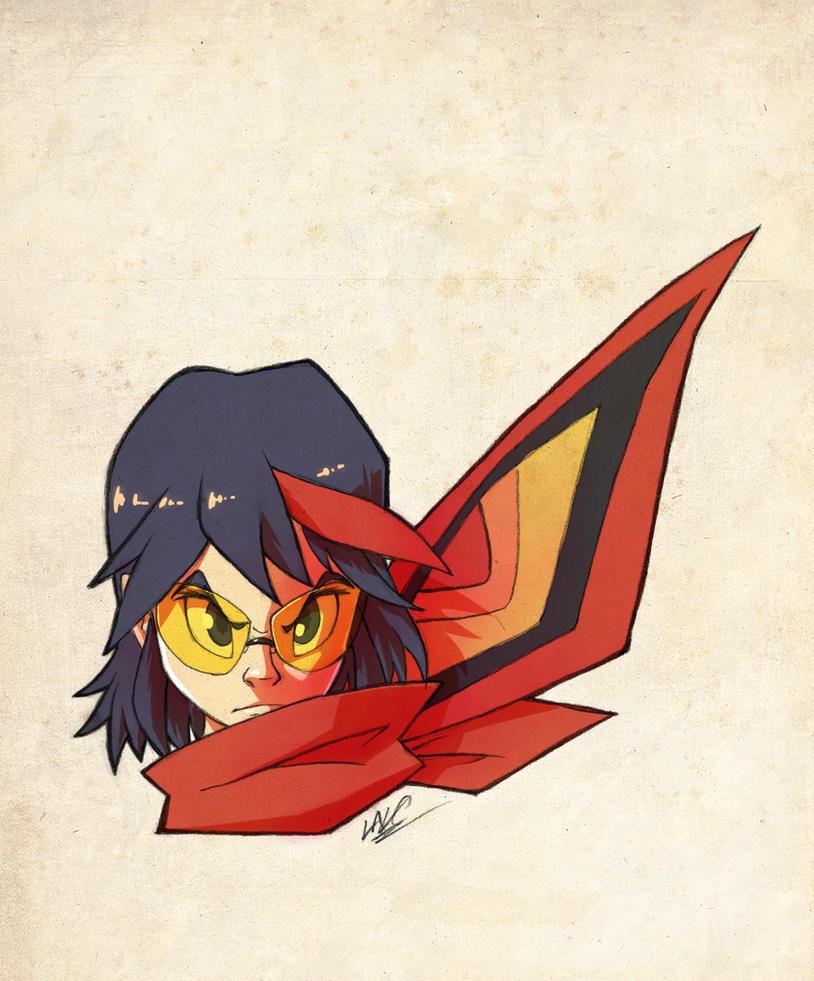 Kill la Kill: Senketsu scarf by CaptainPOZOL