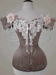 Ivory-brown Client Corset by v-couture-boutique