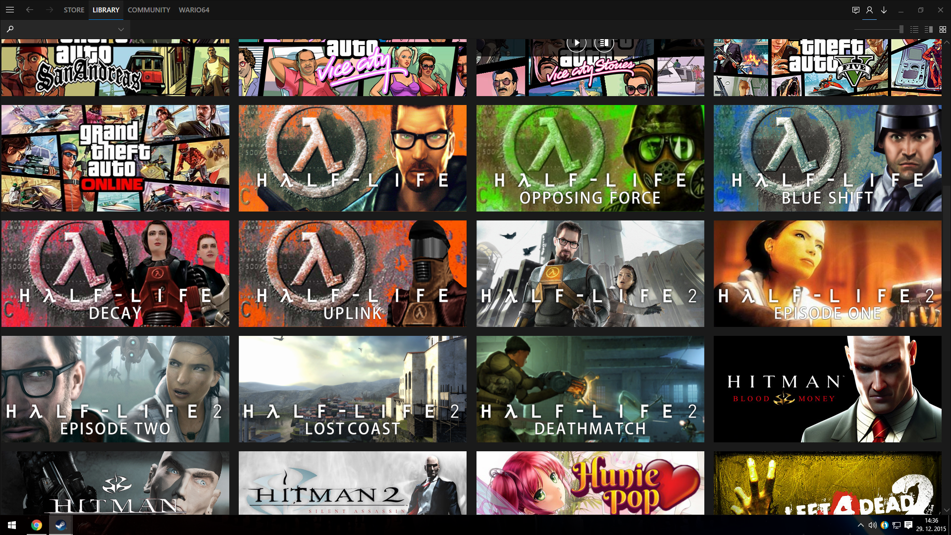 Half-Life Steam Banners - In-Library Preview by Wario64I on