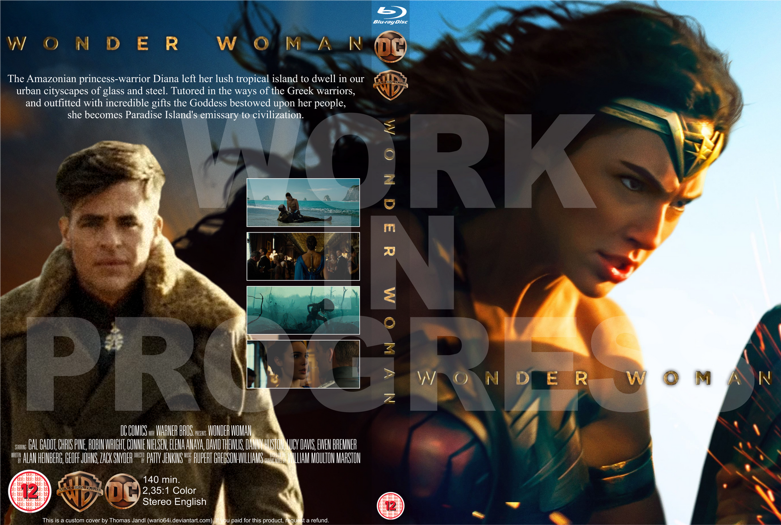 Favori Wonder Woman BD Standard Case cover WIP by Wario64I on DeviantArt VX84