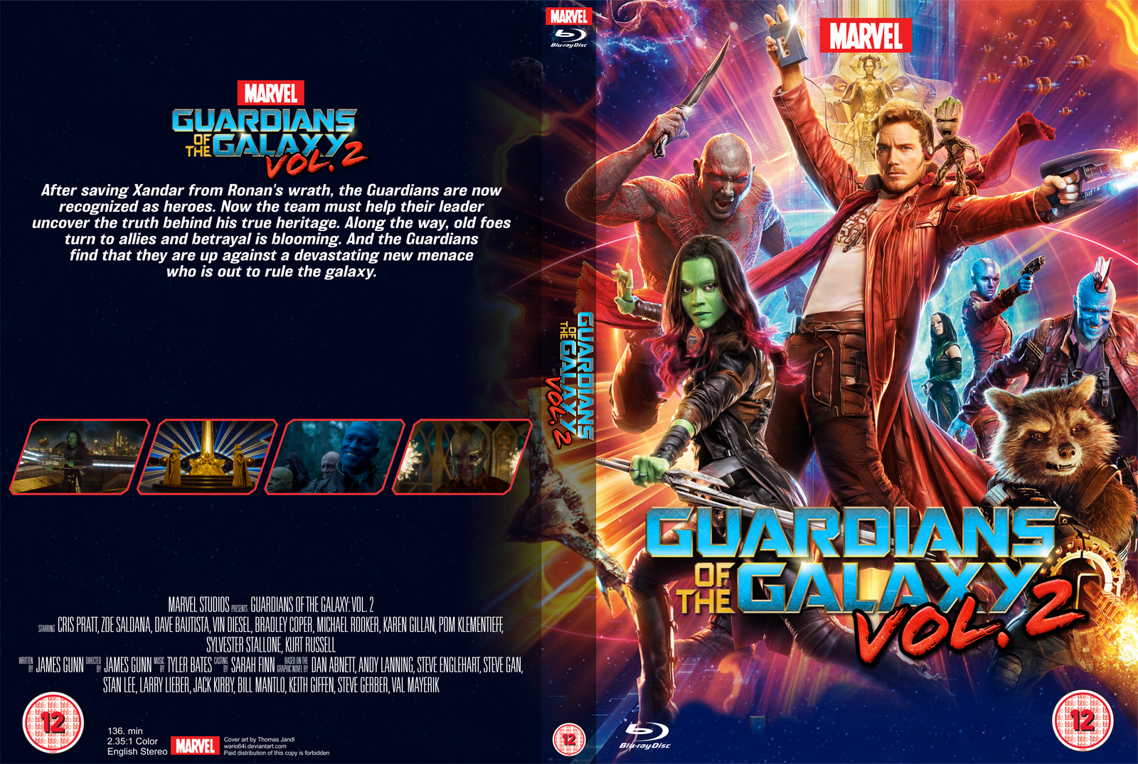 Guardians Of The Galaxy Vol 2 Bd Std Case Cover By