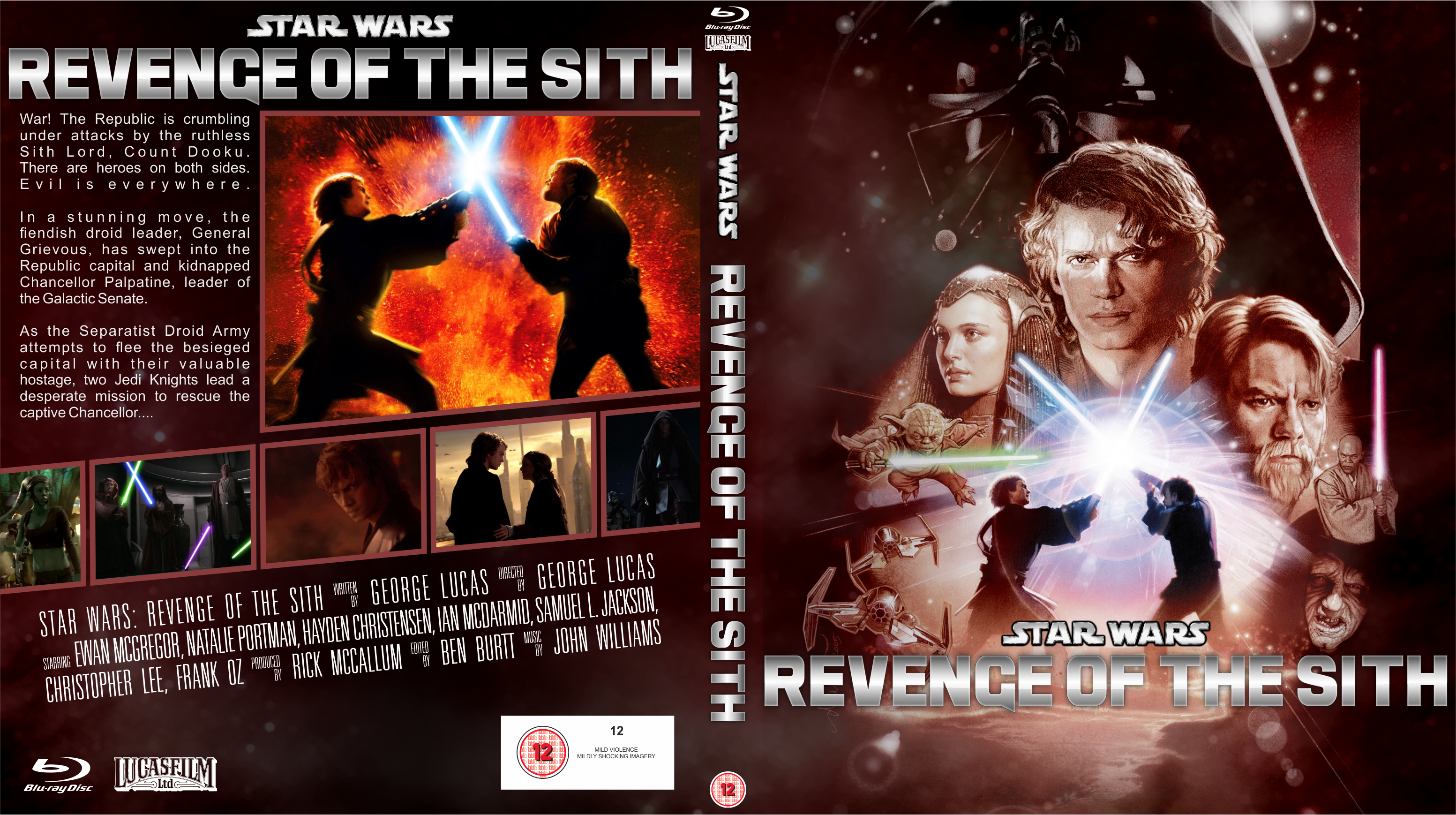 Star Wars Revenge Of The Sith Blu Ray Bd Cover By Wario64i On Deviantart