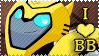 I Love Bumblebee Stamp by BrutalDyingBreed