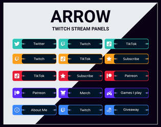 Twitch stream panels by DexPixel