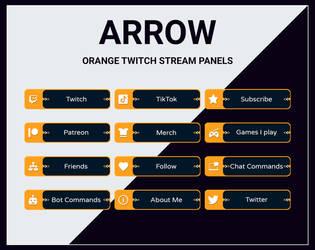 Orange twitch stream panels by DexPixel