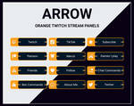 Orange twitch stream panels
