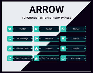 Turquois twitch stream panels by DexPixel