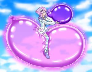 [COM] Neptune riding a balloon in the sky