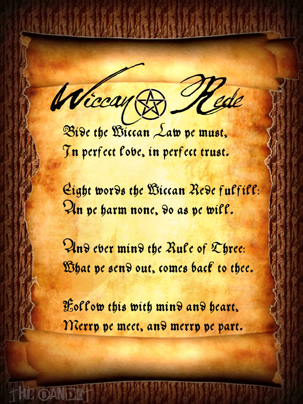 Wiccan Rede By The Bandit Leigh On Deviantart