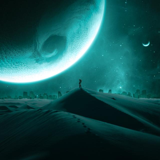 Photo Manipulation (Story of astronaut)