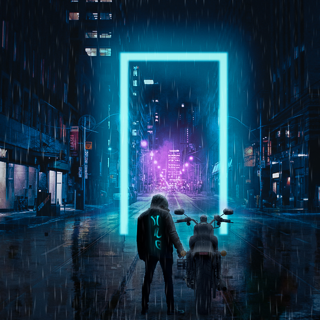 Photo Manipulation (Cyberpunk)