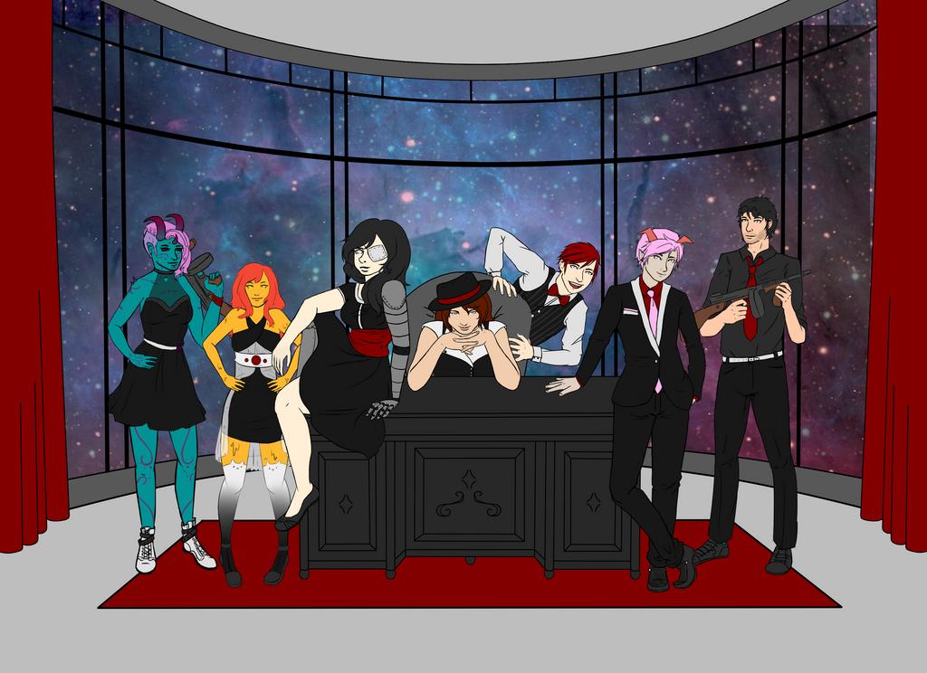 space quest- Mafia! Flat color by PiggyEmpire