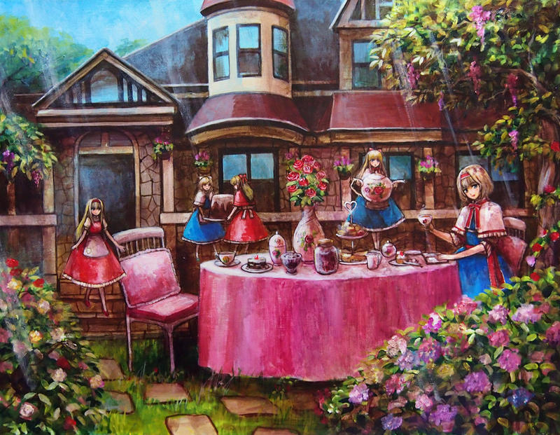 Alice_Margatroid_Tea_party2 by tafuto001