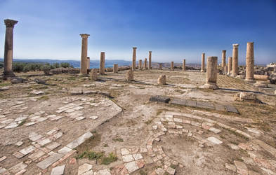 Umm Qais Temple of Zeus by Netsrotj