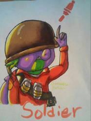 spike soldier by PrincesssLuna