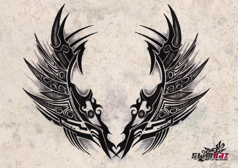 tribal wing tattoo designs