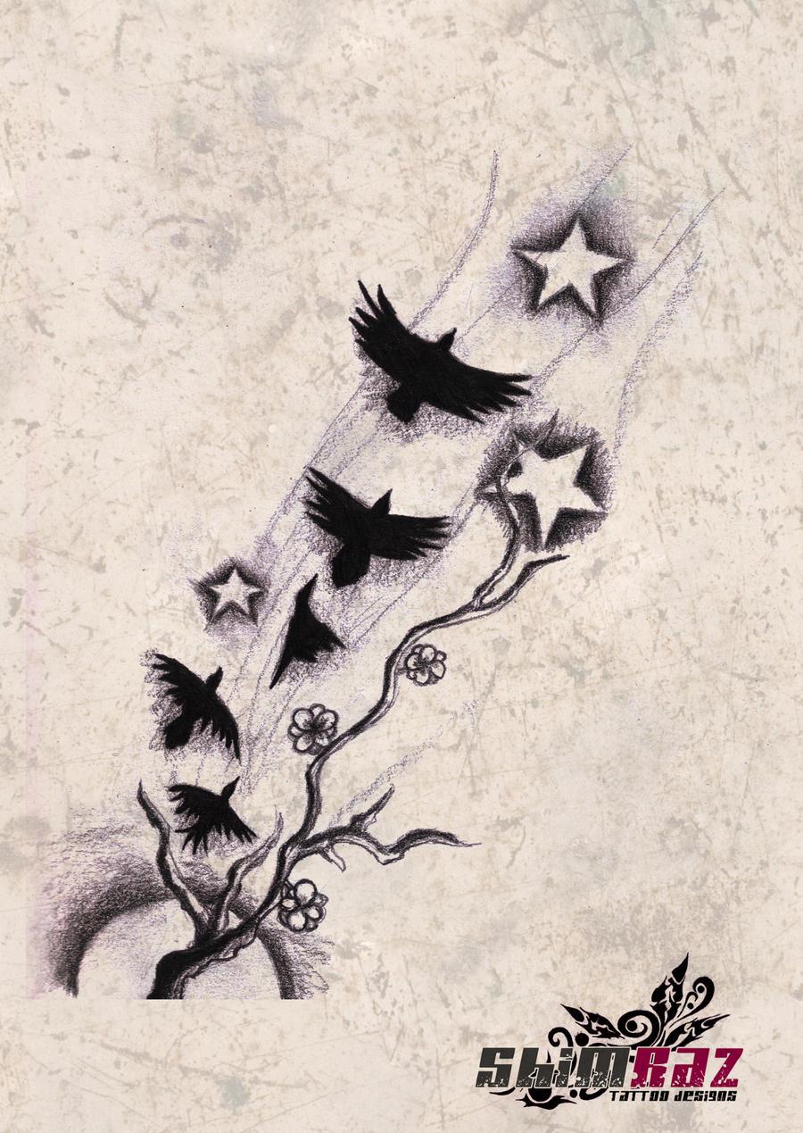 art fly tattoos designs