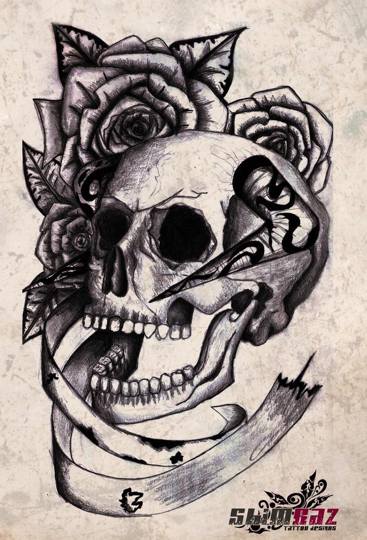 Skull and Roses by gradle on DeviantArt