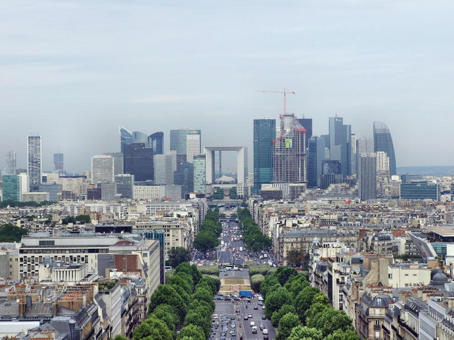 Paris skyline by heresjohnny999