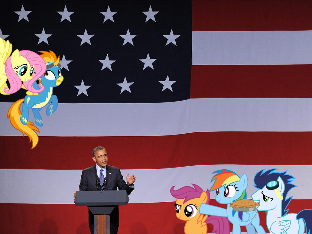 Barack Obama And the Flying Ponies by RicRobinCagnaan