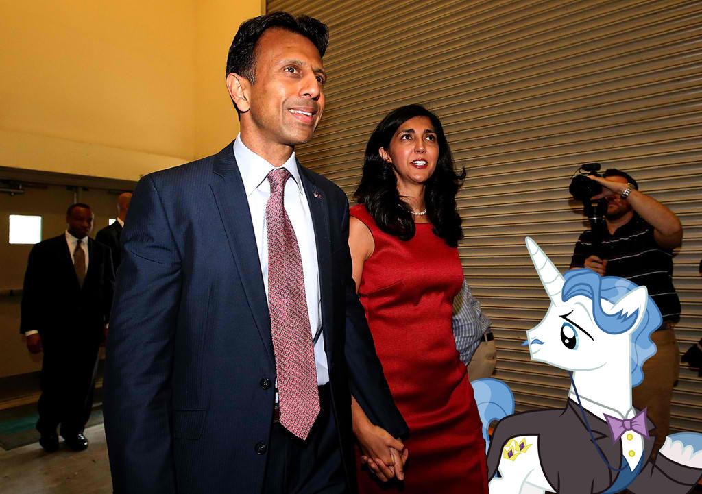 Mr. And Mrs. Bobby Jindal With Fancypants by RicRobinCagnaan