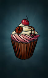 Cupcake Illustration by BlueBitArt