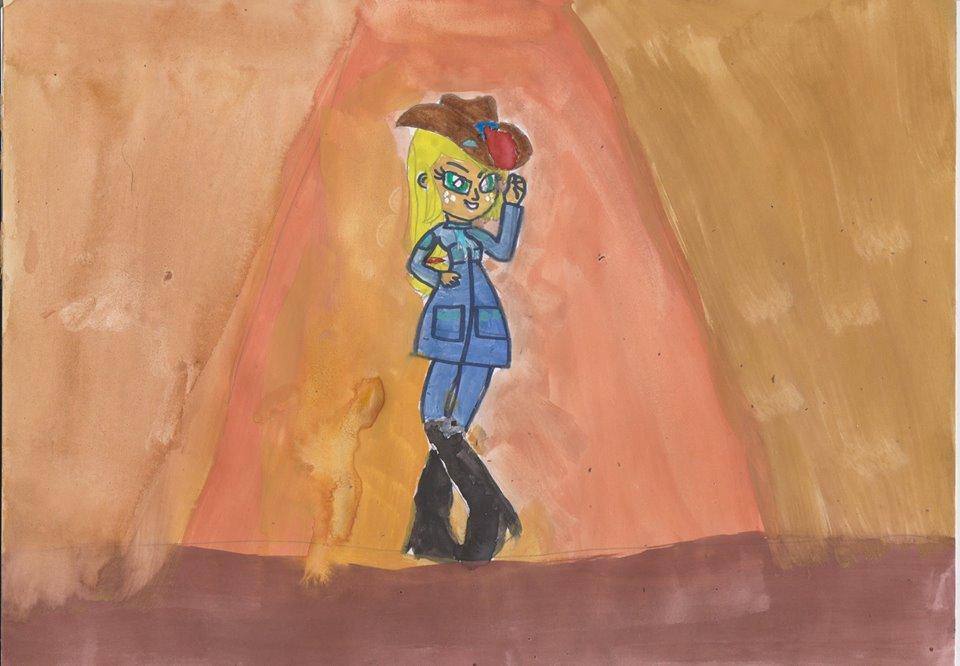 EG Applejack into Helga by msavaloja