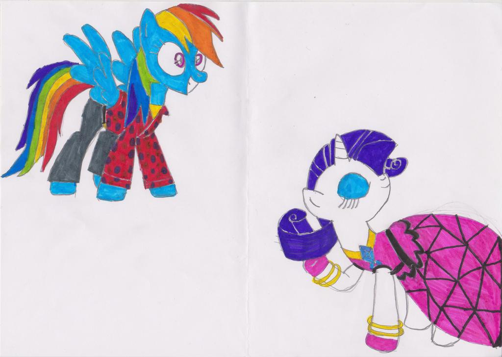 My weird pony style 4 by msavaloja