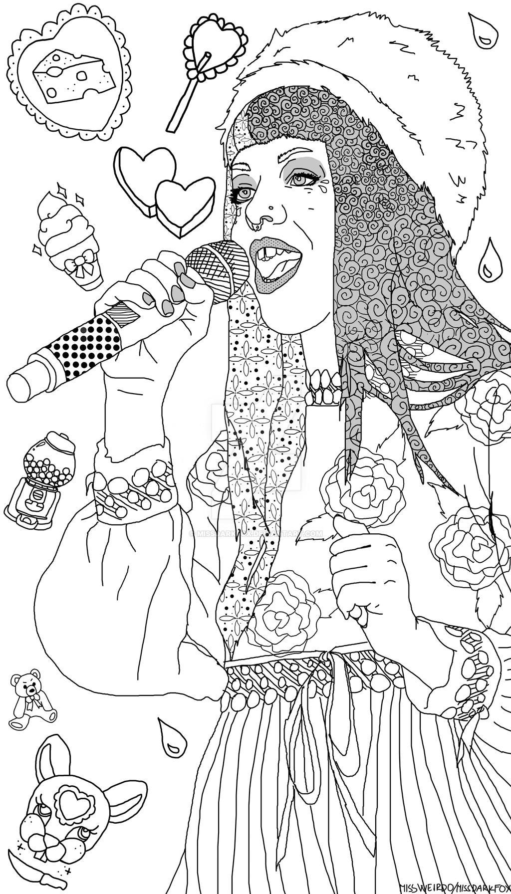 Melanie Martinez Colouring page by MissDarkFox on DeviantArt