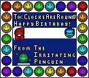 Happy Birthday ~ClocksAreRound! by TheIrritatingPenguin