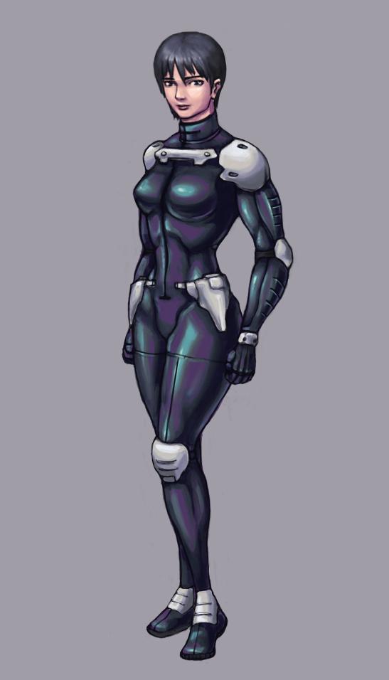 Mecha pilot suit concept by universal-quantifier