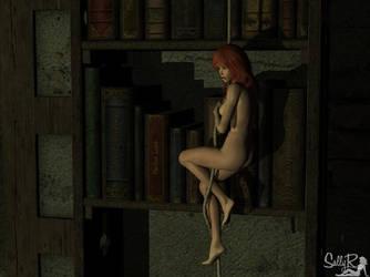 Library Gremlin by sallyfourth