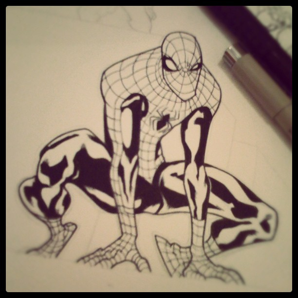 Spiders WIP by alessandromicelli