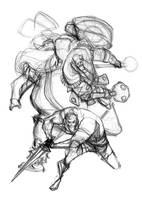 Warriors Three - sketch by alessandromicelli