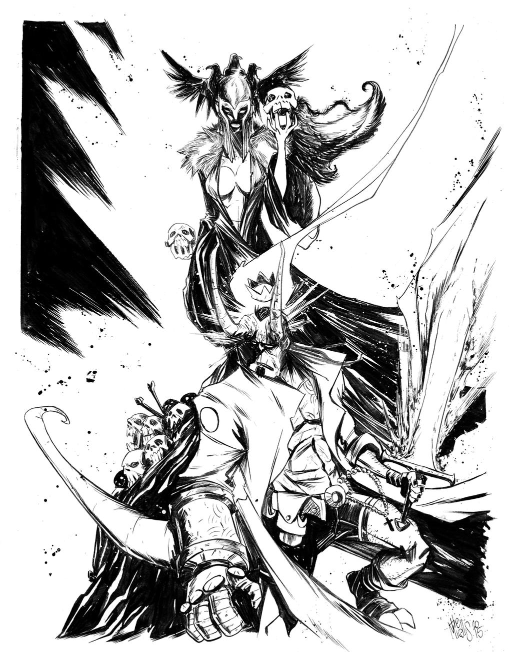 Hellboy | Nimue by alessandromicelli