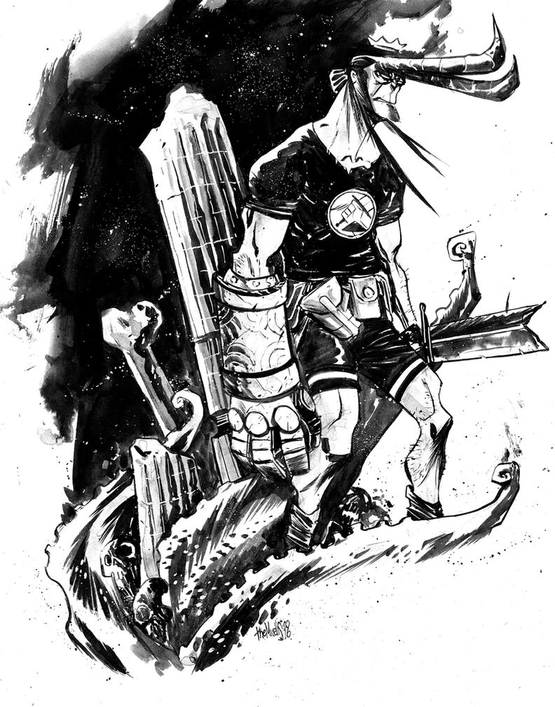 Hellboy by alessandromicelli