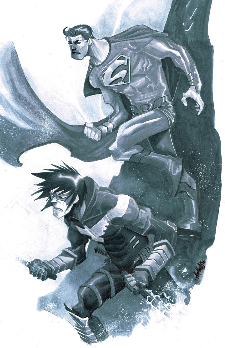 Superman and Nightwing by alessandromicelli
