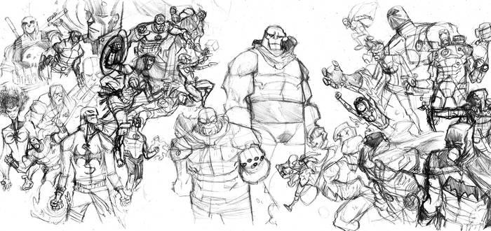 Avengers and JLA