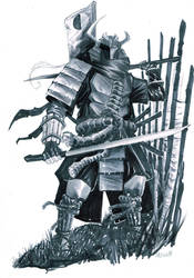 Deathstroke Samurai by alessandromicelli