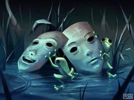 La fable des deux grenouilles by AquaSixio